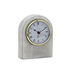 Designs by Marble Crafters CL40-PW Desk Clock