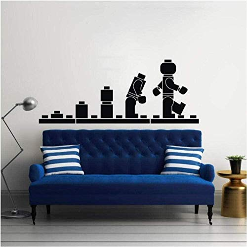 Wall Sticker 3D Removable Vinyl Decal Quote DIY Art Mural Wall Paper Home Wall Decor Lego Bricks 42X120 cm