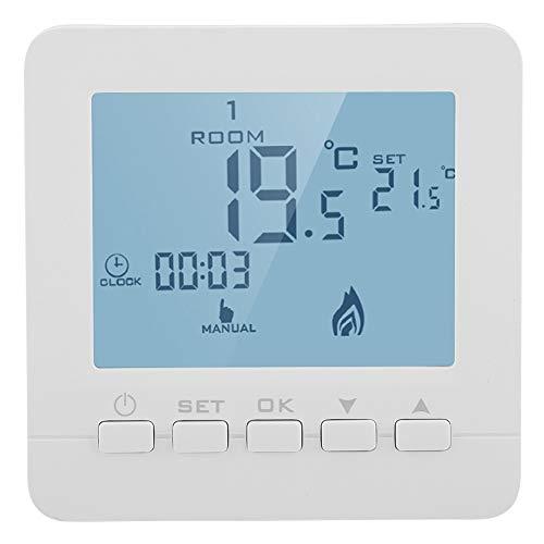 FTVOGUE Pantalla LCD inteligente Termostato de calefacción regulador de temperatura ambiente programable para casa