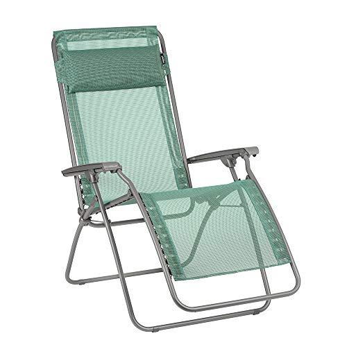 LAFUMA MOBILIER Relax-Liegestuhl, Klappbar und verstellbar, R Clip, Batyline, Farbe: Chlorophylle, LFM4020-9266