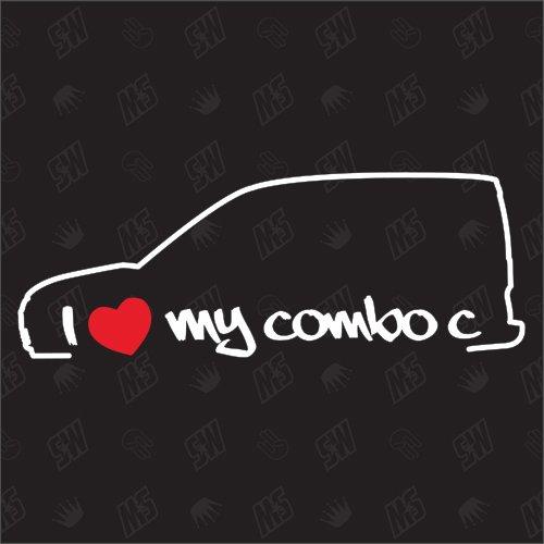 speedwerk-motorwear I Love My Combo C - Sticker für Opel, Bj 01-11