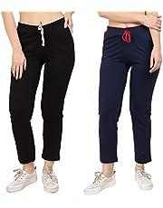 DIAZ Women's Slim Fit Trackpants (Pack of 2)