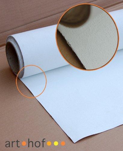 Cotton Canvas Premium Leinwand auf Rolle 1,8 x 10 Meter zum Malen fertig grundiert 340 g/m²