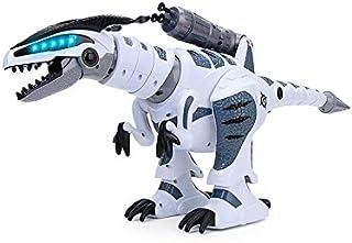 RCTecnic Dinosaurio Robot Teledirigido RoboRex ¡Lanzacohetes, Sonidos y LEDs !   Tiranosaurio Rex Programable Mascotas Electrónica Juguetes para Niños   T Rex Robótica Radio Control