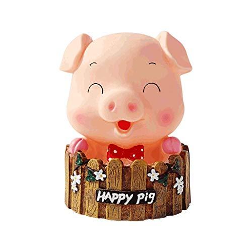 Regalo Piggy Bank Lucky Pig Coin Coggy Bank Vinyl Decorativo, para niñas Niños Adultos Regalos, Banco de dinero creativo, Monedas Bank por dinero Ahorro Anti-Drop Creativity Banco de dinero (Color: Vi