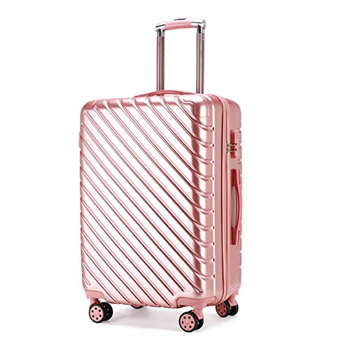 fosa1 Hand Luggage Trolley case ABS + PC Boarding Suitcase, Caster Female Student Suitcase Business Men's Trolley Case, 20, 24 Inches (Color : Rose gold, Size : 20inch)