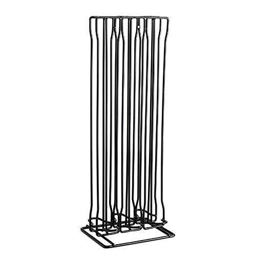 Mediawave Store - Soporte vertical para 60 cápsulas en 3 columnas compatibles con Nespresso, soporte para cápsulas de café, negro, decoración del hogar, diseño elegante.