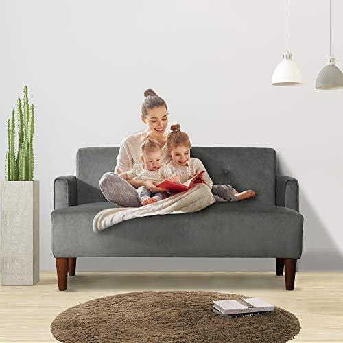 CANMOV Sofá de dos plazas con reposabrazos, funda pequeña para sofá de 117,09 cm de largo, para salón o apartamento