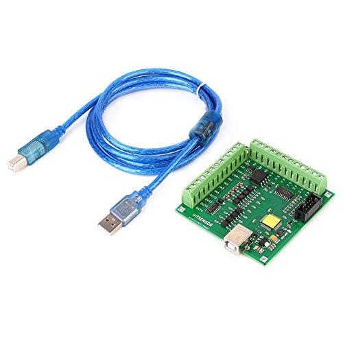 Tarjeta Controladora Mach3, 200Khz Tarjeta Controladora Mach3 para Servo Motor Máquina de Grabado CNC 4 USB, Fresadora CNC Máquina de Grabado Mach3 Interfaz USB 4 Tarjeta de Control de Movimiento 5V