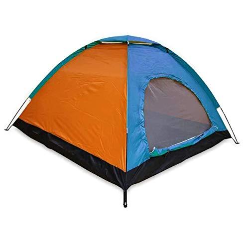 ALLPER Tienda de campaña de fácil Montaje, Polyester y Varillas de Acero Resistente. 3 Personas, Color: Azul Y Naranja. Medidas: 200 x 150 x 110 cm. Impermeable.