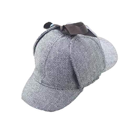 Aisoway Unisex Cosplay Cap Sherlock Deerstalker New Berets Cap Detektiv Kostüm