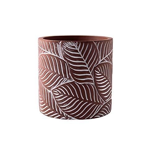 Maceta de cerámica Potes de flor de cemento Moderno Decorativo Pote de jardinería con orificio de drenaje Decorar la oficina en casa Oloras suculentas al aire libre con el drinaje contenedor para plan
