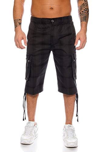 Kendindza Herren Shorts Hose Bermuda Cargo-Shorts 3/4 Sommerhose Capri-Hose Dreiviertel Männer Sommer Herrenshorts kurz Knielang Cargohose Herrenhose Bermudashorts (Grau   665, XL, x_l)