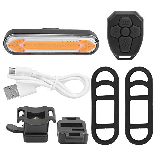 XINMYD Luz Trasera de señal de Giro para Bicicleta, luz Trasera de señal de Giro para Bicicleta de montaña, luz Trasera con Control Remoto de Bicicleta Recargable por USB