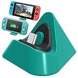 FASTSNAIL - Caricabatterie per Nintendo Switch/Nintendo Switch Lite, portatile, mini supporto di ricarica per Switch/Switch Lite 2019 Triangolo Holder (verde)