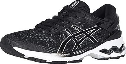 ASICS Women's Gel-Kayano 26 Running Shoes, 8.5, Black/White