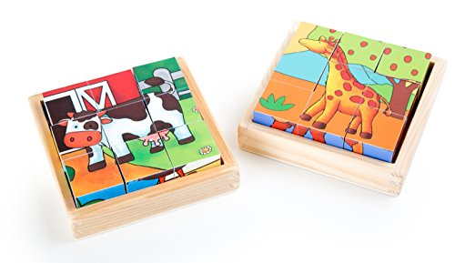 Small Foot - 10076 - Puzzle Cubes Ferme & Zoo