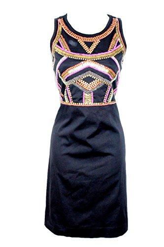 Almatrichi Vestido Sahara Negro con Bordado Brillante