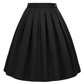 a line pleated skirt