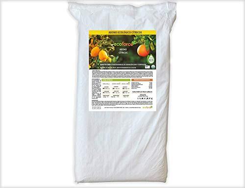 CULTIVERS Abono Ecológico Cítricos de 25 Kg Fertilizante Origen 100% Orgánico y Natural Microgránulado. Mayor Rendimiento y Aumento del Calibre del Fruto (ECO10F00212)