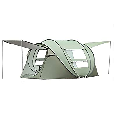 JODELA 10 Seconds Set-up Camping Tent, 3-4 Person pop up Tent with 2 Doors and 2 Windows for Camping, Hiking and Traveling