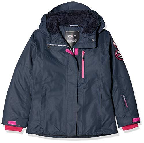 CMP Mädchen Wattierte 3000 Ripstop Skijacke Jacke, Asphalt-Strawberry, 176