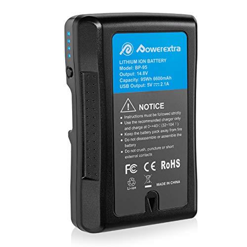 Powerextra V-Mount Akku für Sony BP-95W mit 6600mAh und 95Wh