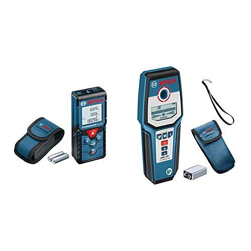 Bosch Professional Laser Entfernungsmesser GLM 40 (max. Messbereich: 40 m, 2x 1,5-V Batterien) & digitales Ortungsgerät GMS 120 (spannungsführende Leitungen: 38/120/80/50 mm, im Karton)