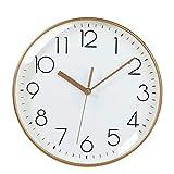 Reloj de Cuarzo de Pared Reloj de pared moderno Sala de estar Simple Reloj de pared Cocina de batería Dormitorio Decoración grande Reloj de pared digital Negro blanco y negro Decorar La Oficina o Casa