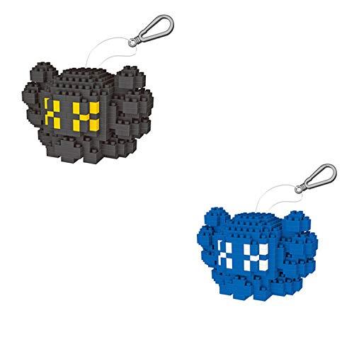 BAIDEFENG Juego De Micro Bloques De Construcción KAWS Nano Micro Bloques Llavero IY Juguetes Regalo para Adultos Niños (Contiene Dos Modelos Pequeños),C