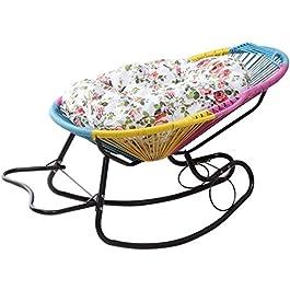 Chaise Longue Pliant de Jardin, Fauteuil inclinable en rotin à bascule chaises longues chaises longues avec coussins…
