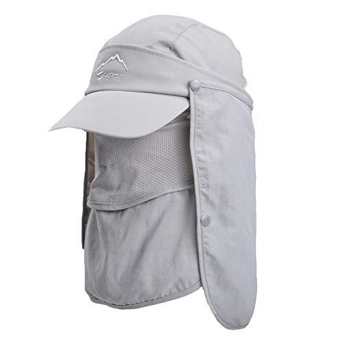 TAGVO Sombrero de Sol con Cubierta de Cuello Desmontable, Protección UPF 50+...
