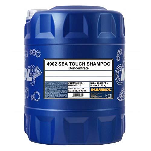 MANNOL 1 x 20L Sea Touch Shampoo/Biologisch abbaubar Shampoo für Kraftfahrzeuge
