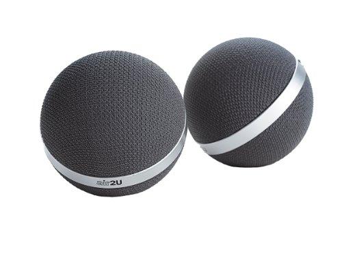 Aiptek Music Speaker E30 Gris - Altavoces portátiles (65 - 15000 Hz, 1%, Inalámbrico y alámbrico, A2DP, 10 m, Gris)