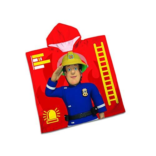 Herding Badeponcho Feuerwehrmann Sam, Größe: 60x60cm (+Kapuze)