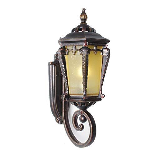 Waterdichte wandlamp voor buiten ZS, wandlampen buiten LED E27 klassieke wandlamp wandmontage bedrade tuinverlichting net met glazen lampenkap voor de hal en deur, externe wandbeleu