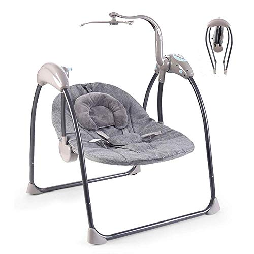 XHCP Baby Swing Chair, Multifunctional Electric Swing Cradle Can Sit Down and Lie Down Suitable for Family and Outdoor Travel