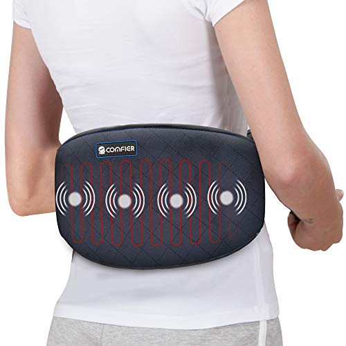 Comfier Heating Pad for Back Pain  Heat Belly Wrap Belt with Vibration Massage Fast Heating Pads with Auto Shut Off for Lumbar Abdominal Leg Cramps Arthritic Pain Relief