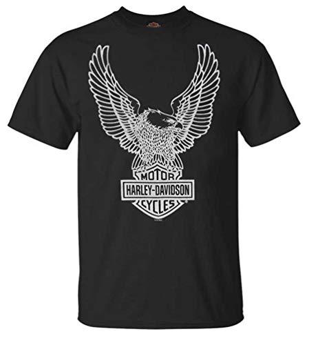 Harley-Davidson Herren T-Shirt Eagle Graphic Short Sleeve Tee Schwarz Tee 30296656 - Schwarz - Groß