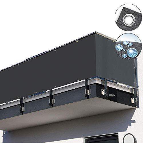 Toldos Terrazas Lateral Protector Visual, Impermeable Protección Rayos UV con Cuerda sujeción,...