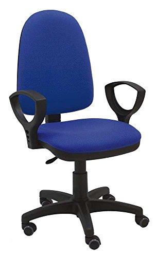 La Silla de Claudia - Silla giratoria Torino azul ergonómica reposabrazos y asiento ajustable con r
