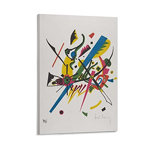 Vasily Kandinsky - Póster de pintor ruso abstracto de Kleine Welten I en lienzo y arte para pared, diseño moderno, 40 x 60 cm