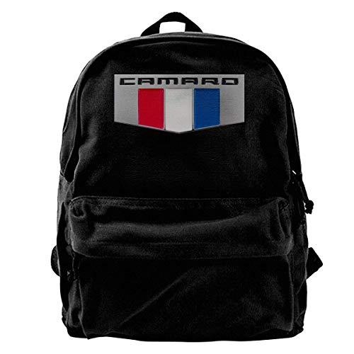 NJIASGFUI Sac à dos en toile Camaro Performance Car Gym Randonnée Ordinateur portable Sac à dos Sac à bandoulière pour homme et femme