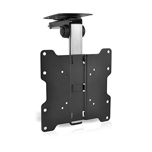 "Universal Folding TV Ceiling Mount - Hide-Away Ceiling Flip Down Tv Mount Bracket - VESA Mount Compatible for 17"" - 37' TVs - Flat Panel HDTV, LCD Screen, LED, Plasma, & Smart TVs - PyleHome PCMTV25"