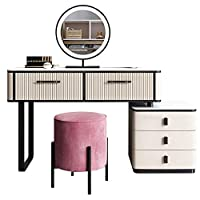 ドレッシングテーブル、イタリアンモダンなミニマリストスタイルのドレッシングテーブル、ベッドサイドのテーブルと化粧スツール、カーキ、グリーン,カーキ,80cm