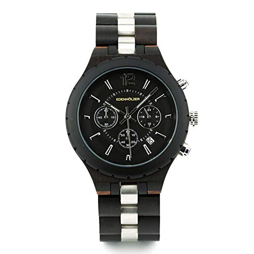 Edenholz Hardlex Santorini - Reloj de pulsera para hombre (cronógrafo, indicador de fecha)