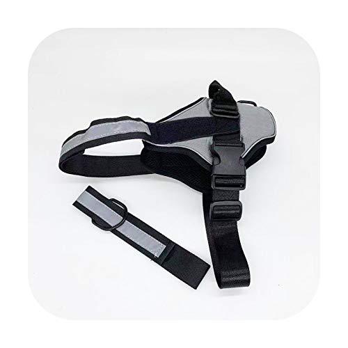 Arns de mascota ajustable para perro reflectante transpirable traje traje ID parche caminar al aire libre arns personalizado productos para mascotas-gris-XL