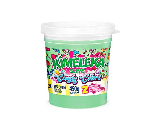 Slime Kimeleca Candy Colors 450G Acrilex Lavavel Verde, Acrilex