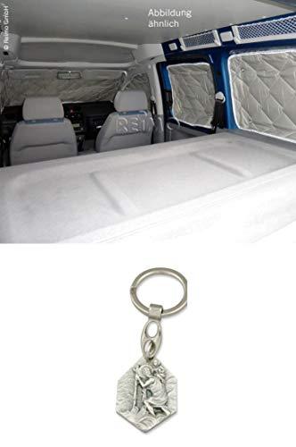 Zisa-Kombi Isoflex Thermomatte Fahrerhaus Nissan NV 200 5-TLG. (93298837320) mit Anhänger Hlg. Christophorus