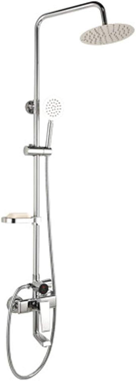 Dusch-Duschset mit Digitalanzeige, Duscharmatur aus Kupfer zur Wandmontage, anhebbare Duschstange, anhebender und erhhender Duschkopf, Multifunktionsdusche,
